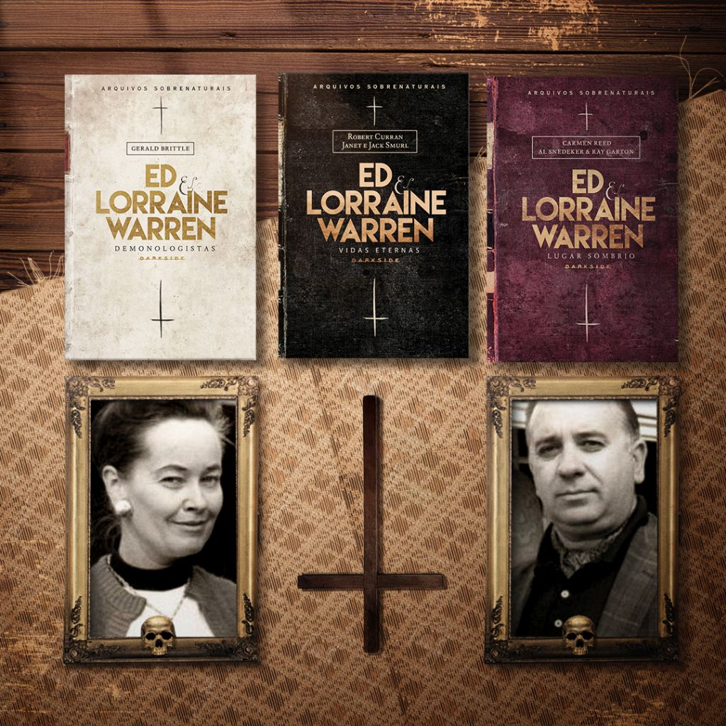 Ed & Lorraine Warren e seus livros lançados pela DarkSide Books