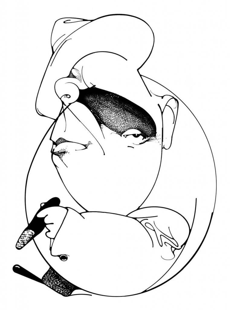 João do Rio na ilustração de Lula Palomanes, presente em Medo Imortal