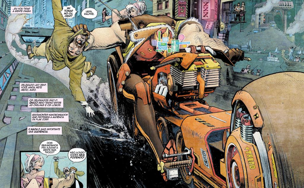 Imagem interna da graphic novel Tokyo Ghost