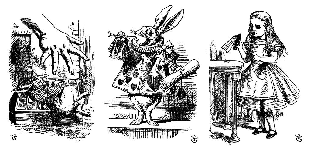 Ilustrações de Tenniel