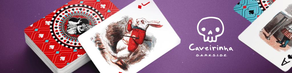 Atividades infantis da Caveirinha: baralho Alice no País das Maravilhas
