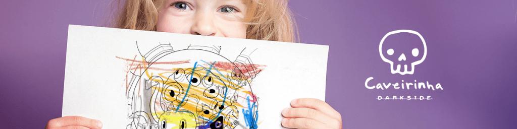 Atividades infantis da Caveirinha: ilustrações para colorir