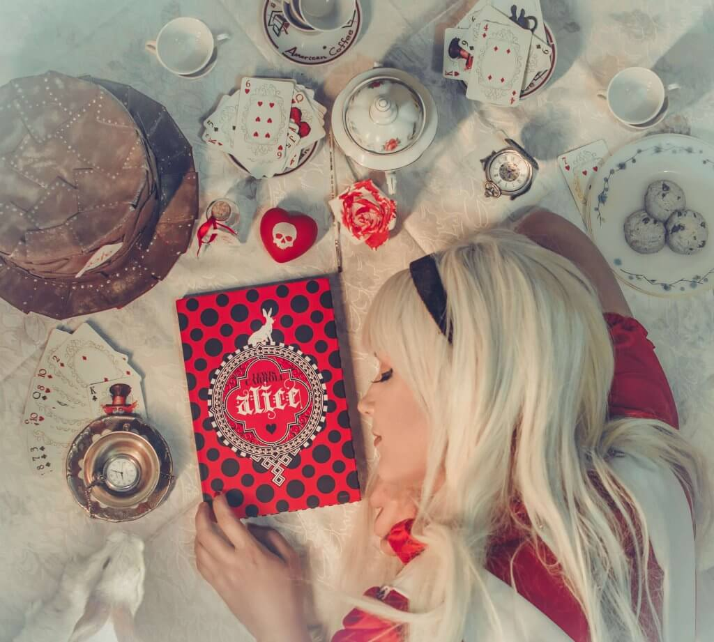 Ensaio fotográfico de Alice no País das Maravilhas